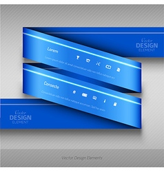 Modern business ribbon origami style banner design vector