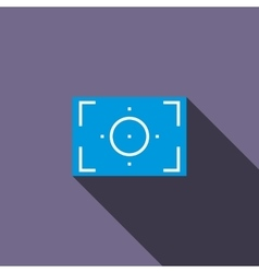 Camera viewfinder icon flat style vector