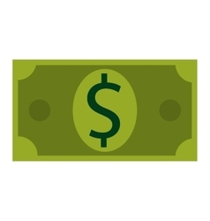 Bill money sign business icon vector image