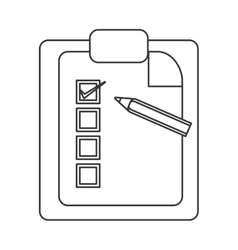 Clipboard with pencil icon vector