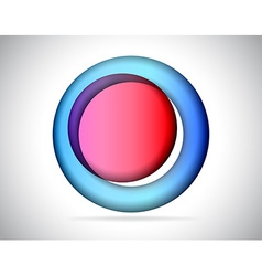 Abstract round colorful glass vector image vector image