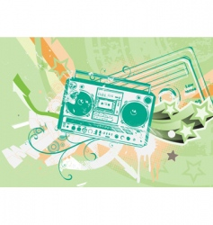 boombox vector image