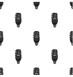 Fluorescent lightbulb icon in black style isolated vector