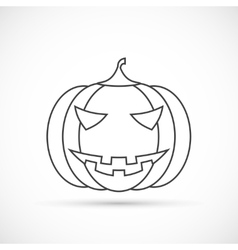 Helloween pumpkin outline icon vector