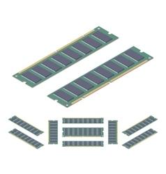 Isometric flat ram memory card vector