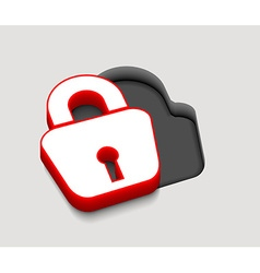 lock icon design vector image