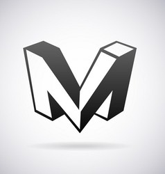 Logo for letter m vector