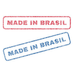 Made in brasil textile stamps vector