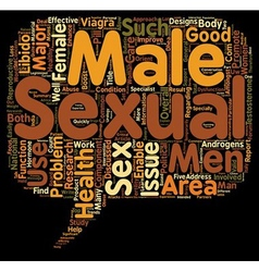 Major Component Of Female And Male Sexual Health vector image