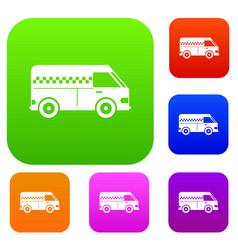 Minibus taxi set collection vector