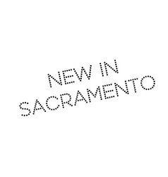 New in sacramento rubber stamp vector