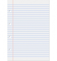 notepad lined vector image