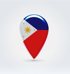 Philippines icon point for map vector image