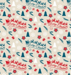 Seamless Christmas pattern with Santa Claus vector image vector image