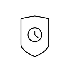 security check time icon vector image vector image