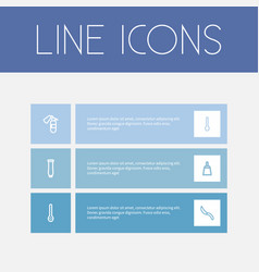 set of 6 editable apparatus outline icons vector image vector image