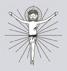 Sketch sf the ascension of jesus christ vector