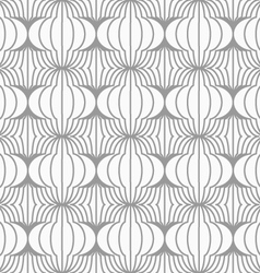 Slim gray hatched uneven grid vector