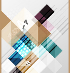 Square elements with infographics and options vector