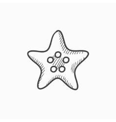 Starfish sketch icon vector image vector image
