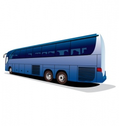 tourists bus vector image