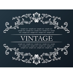 Vintage frame royal retro ornament decor black vector