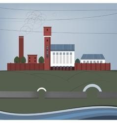 01 city factory vector