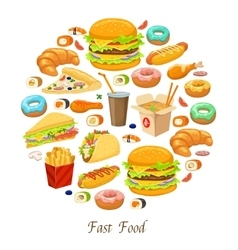 Fast food round composition vector