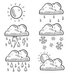 doodle weather vector image