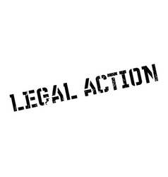 Legal action rubber stamp vector