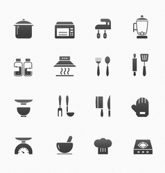 Kitchenware symbol icons vector