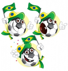 Brazilian cartoon ball vector
