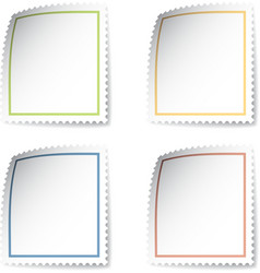 Blank post stamp vector
