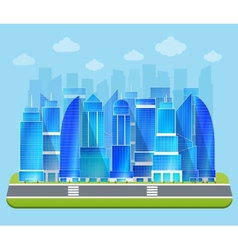 Office industrial cityscape vector
