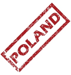New poland rubber stamp vector
