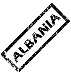 Albania rubber stamp vector