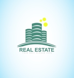Real estate blue logo vector