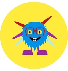 Cartoon cute monster alien vector