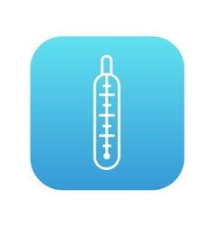 Medical thermometer line icon vector