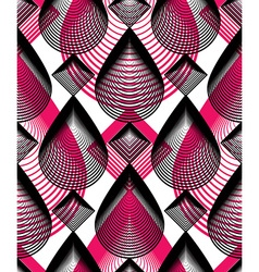 Bright stripy endless overlay pattern art vector