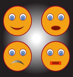 Smiles with different emotions vector