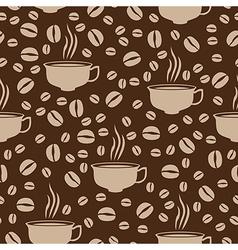 coffee cap pattern beige vector image