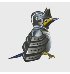 Bird warrior in armor cartoon animal series vector