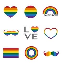 Rainbow iconLGBT support symbol vector image
