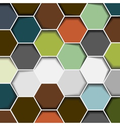 abstract hexagon background vector image vector image