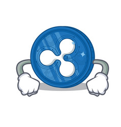 Angry ripple coin character cartoon vector