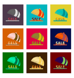 Assembly of flat shading style icon sale percent vector