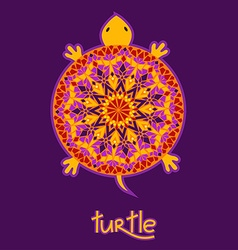 Background with african turtle vector
