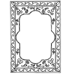 Black painted frame on white background vector image vector image