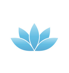 Blue lotus symbol spa and wellness theme design vector
